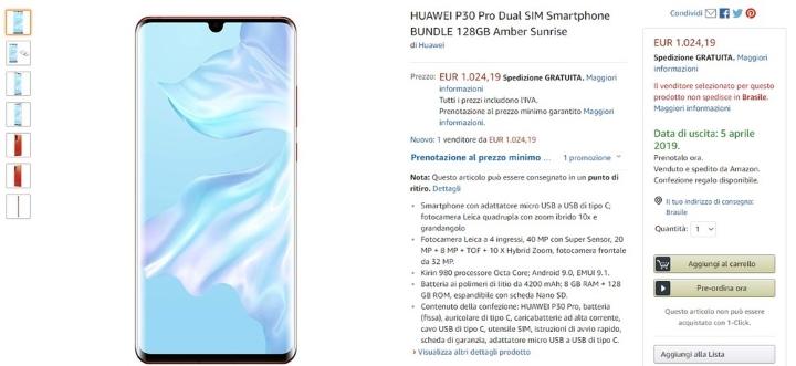 O smartphone Huawei P30 Pro já chegou à Amazon... o que falta saber?