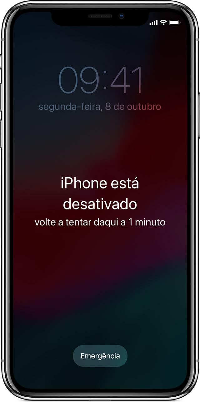 ecrã iPhone está desativado