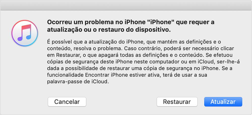 ecrã do iTunes