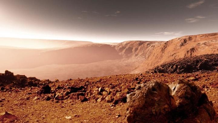 Imagens da Curiosity da NASA sobre a atmosfera do planeta Marte