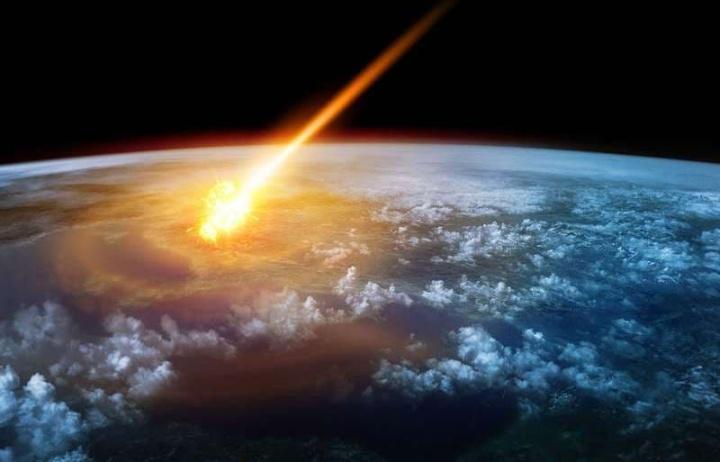 Ilustração gráfica de Meteoro que caiu na Terra e libertou dez vezes mais energia do que a bomba de Hiroxima