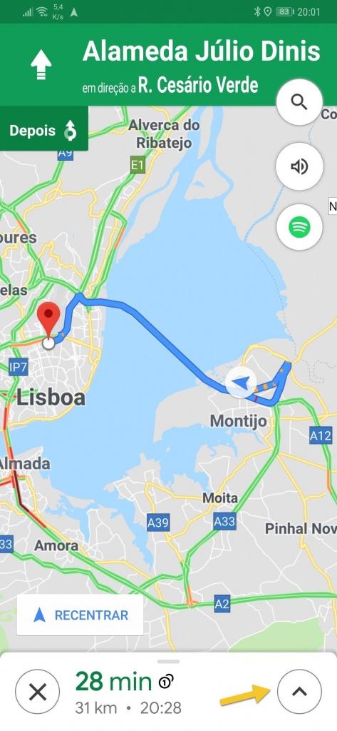 Google Maps partilhar localização viagem