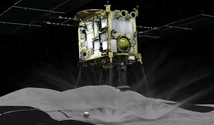 Vídeo mostra sonda japonesa a disparar bala de tântalo contra asteroide Ryugu