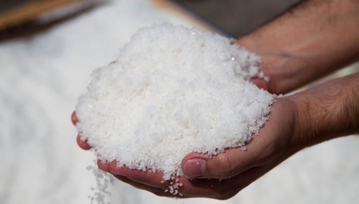 Imagem sal de mesa com microplásticos
