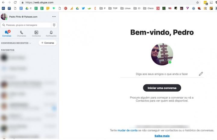 Novo Skype já pode ser usado através de um simples browser