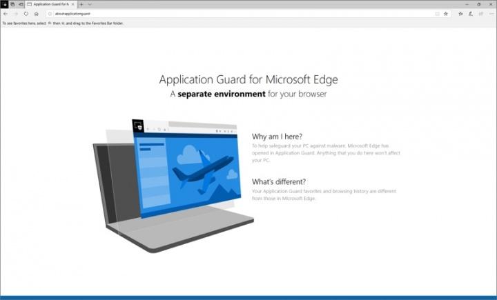 Microsoft Edge browser Defender segurança