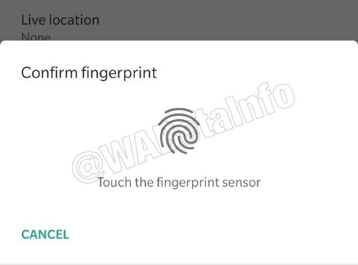 WhatsApp impressão digital Android seguro