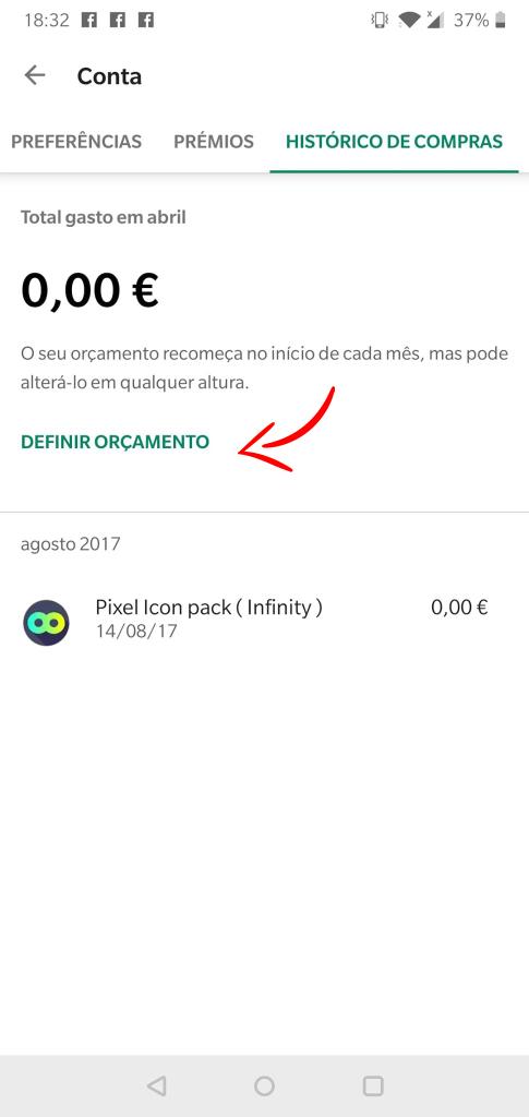 Play Store já permite definir orçamento para compras de apps