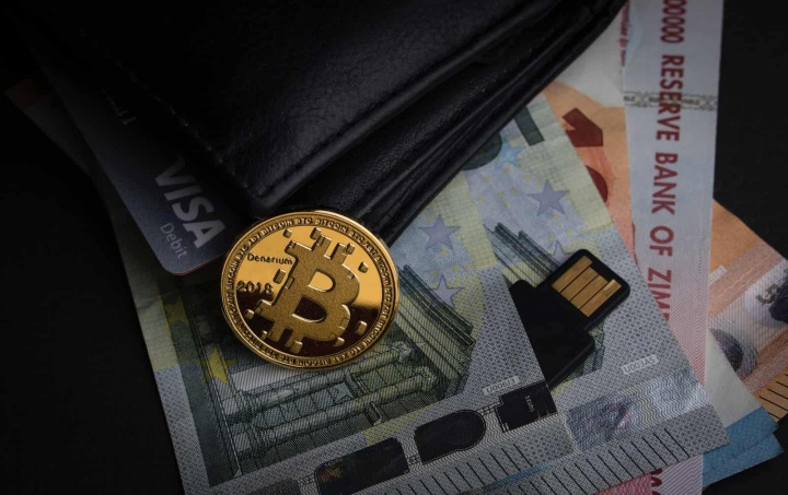 Bitcoin VISA dinheiro