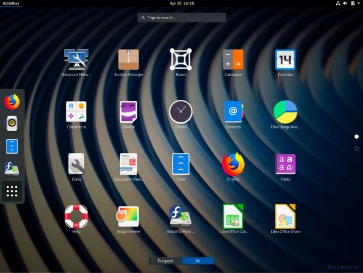 Linux Fedora 30