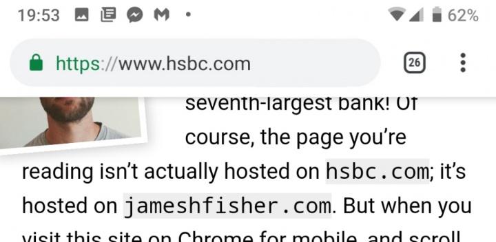Google Chrome Android scam phishing ataque