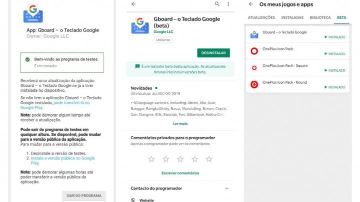 Gboard Android teclado da Google