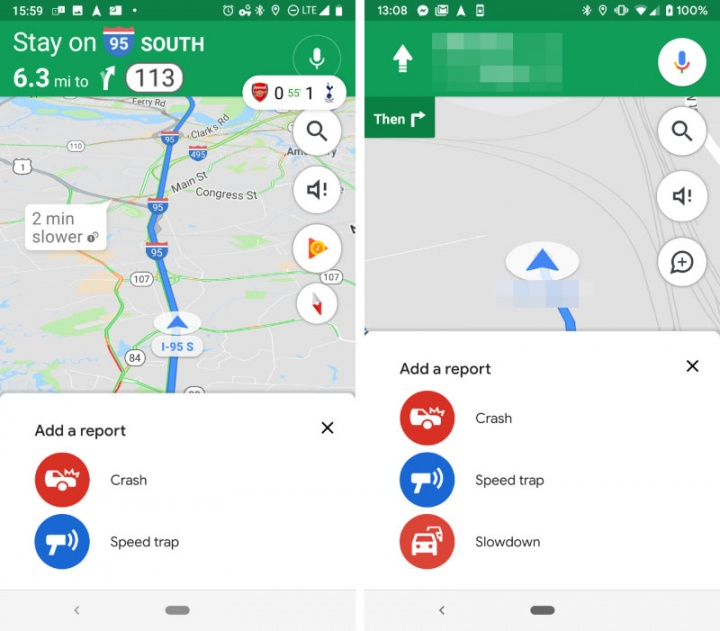 Google Maps Android Waze