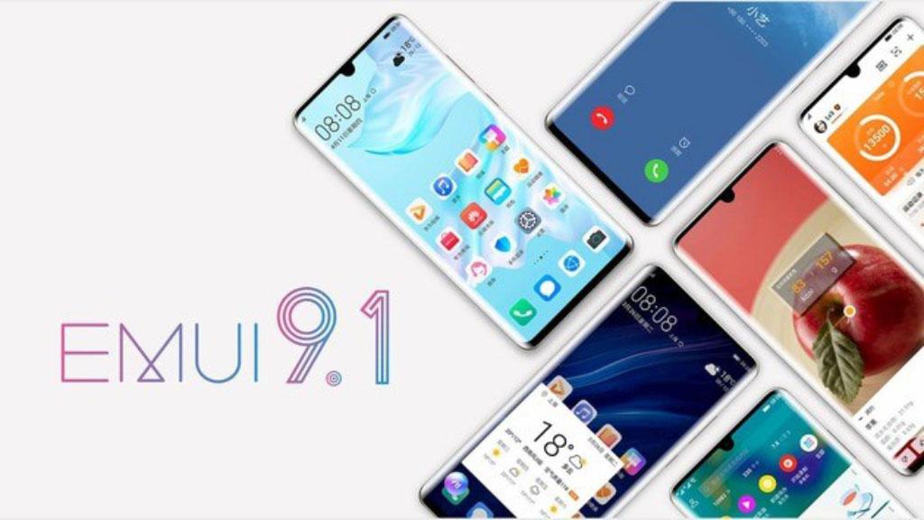 Huawei smartphones Android EMUI 9.1 atualização