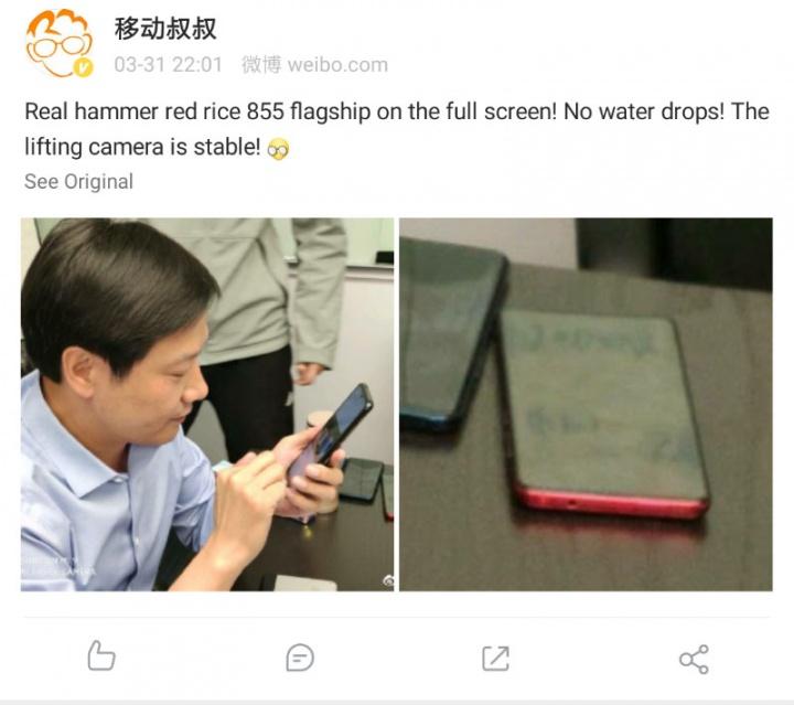 Xiaomi Redmi smartphone Android topo