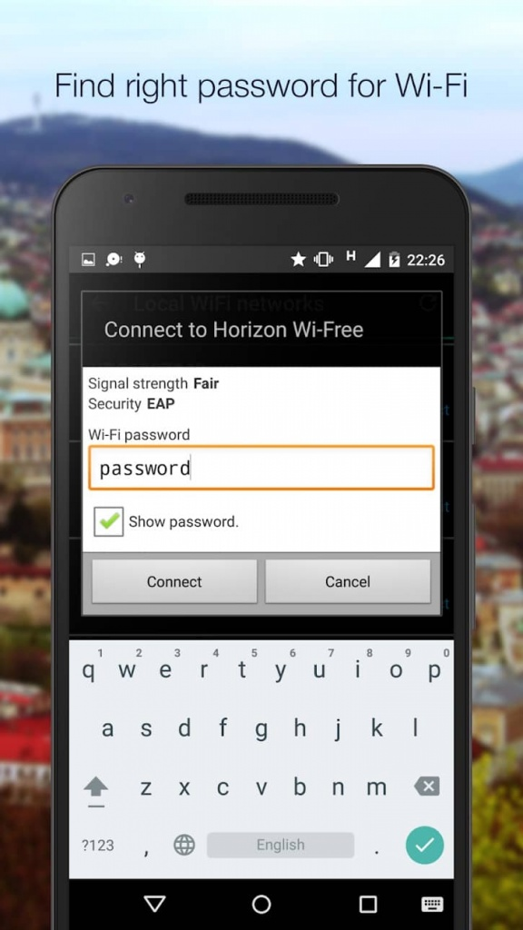WiFi Finder hotspots Wi-Fi passwords redes