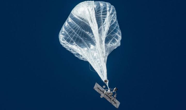 Imagem de balão com 5G da Loon