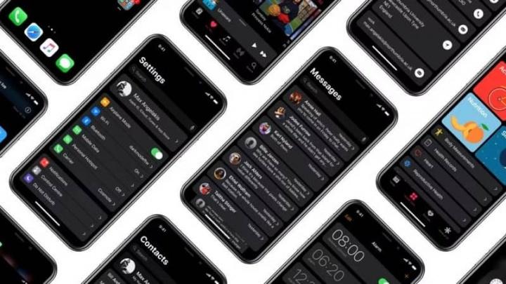 iOS Apple iPhone iPad Dark Mode
