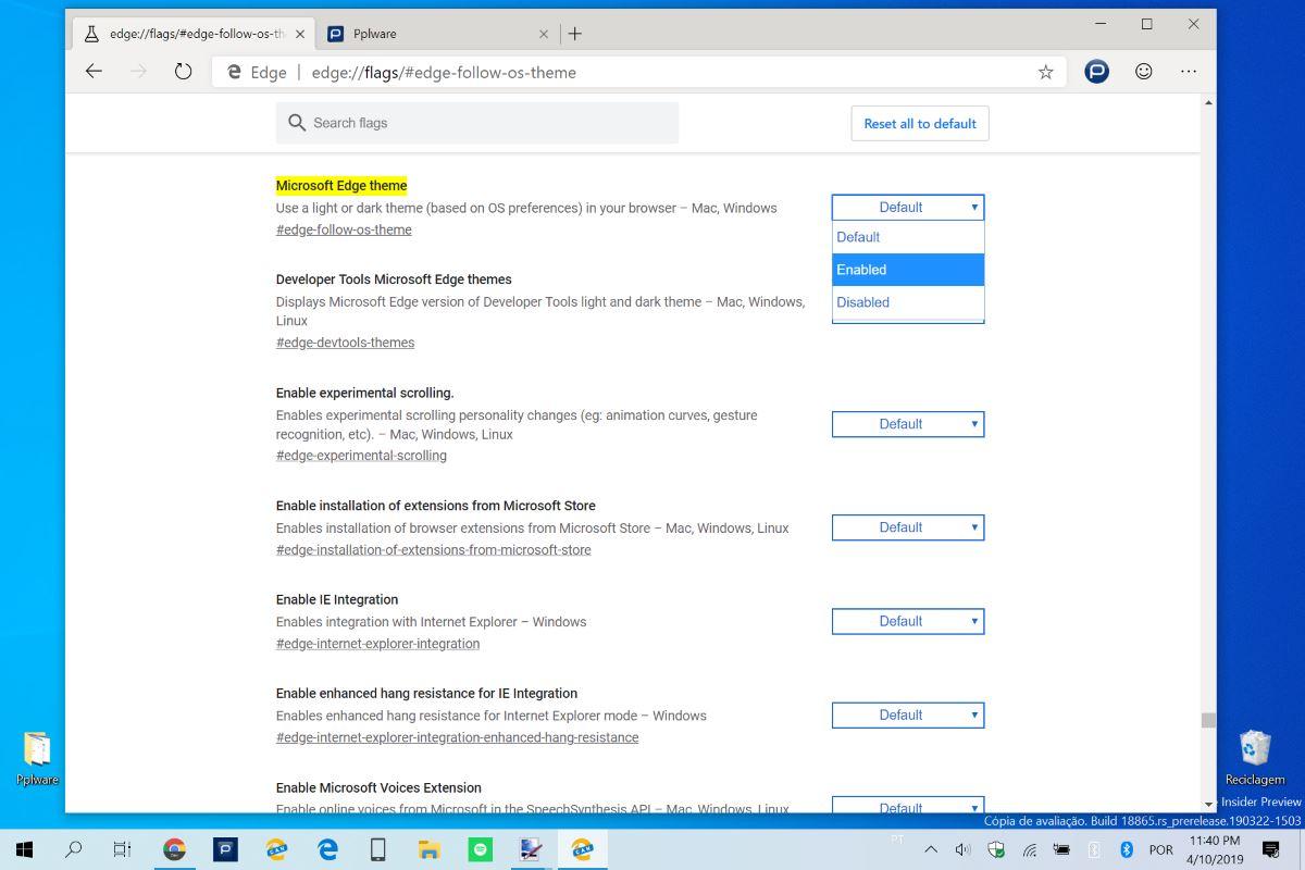 Dica: Como ativar o dark mode do Windows 10 no novo Edge da