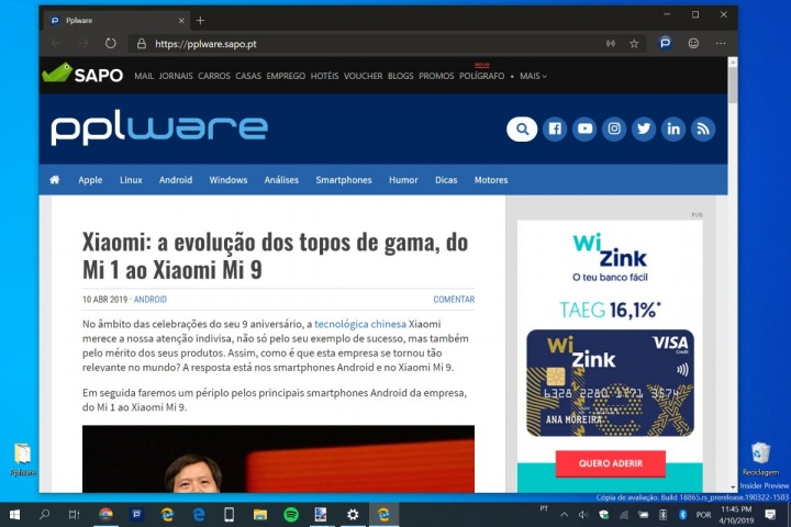 Edge Microsoft Windows 10 dark mode Chrome