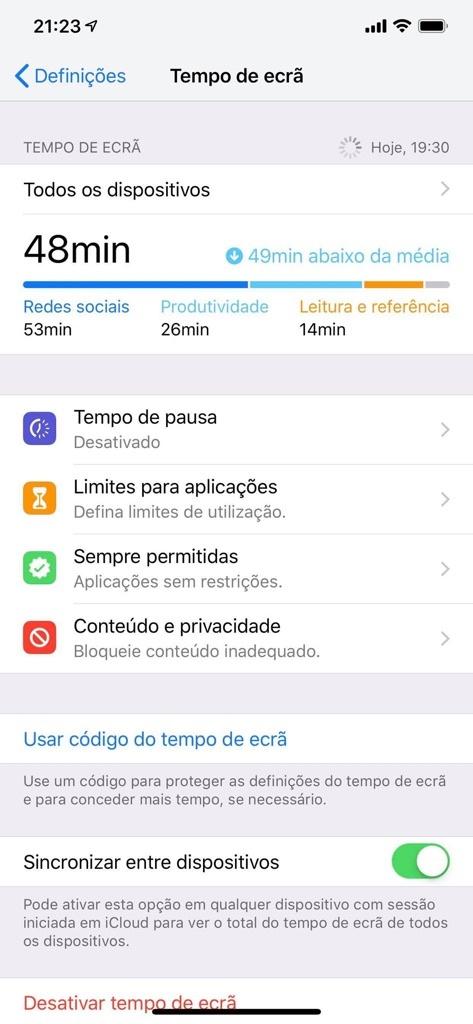 macOS iOS Apple Atalhos da Siri Tempo de ecrã