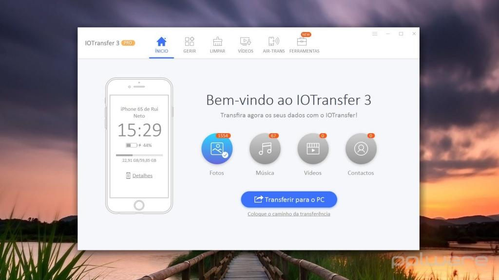 IOTransfer 3.3 - O melhor gestor para lidar com o iPhone e iPad no seu Windows. Conheça este software.