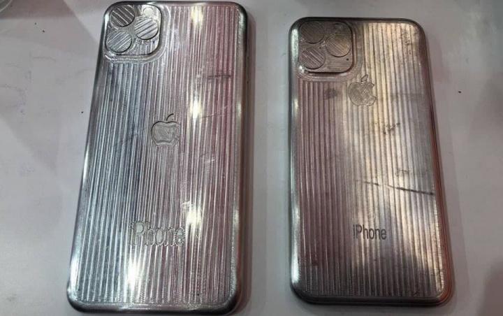Imagem de supostos moldes dos iPhone XI e XI Max da Apple