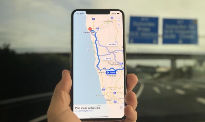 Imagem Mapas da Apple em Portugal