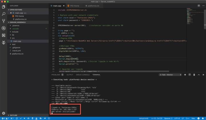 nodeMCU: Aprenda a criar um servidor Web