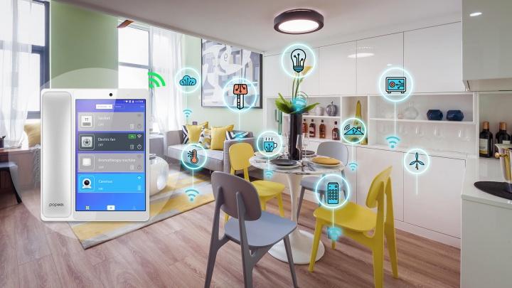 Poptel V9 - Quando o telefone fixo pode controlar a sua casa - um tablet Android