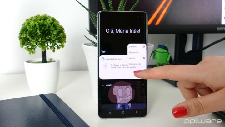 Galaxy S10 Samsung atualização impressões digitais leitor