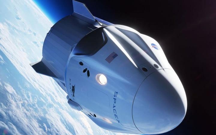 Imagem ilustrativa da cápsula SpaceX para a NASA