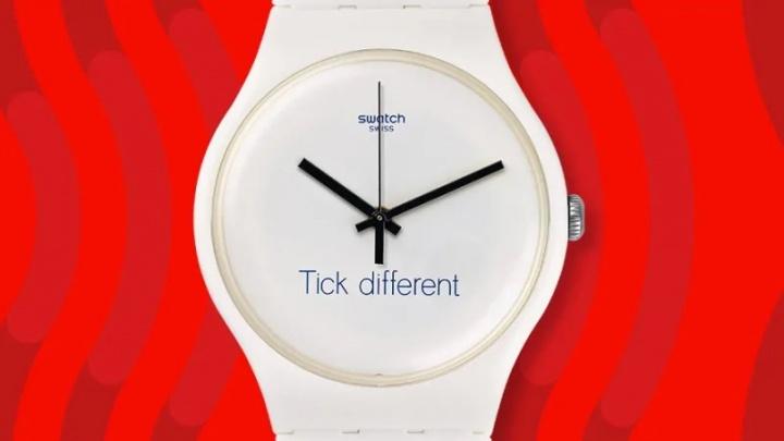 Apple Swatch slogan Tick Different