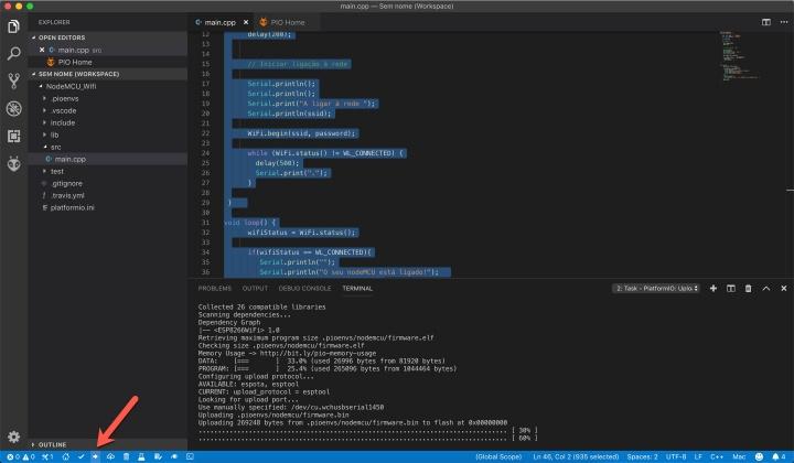 Aprenda a programar a board NodeMCU com o Visual Studio Code