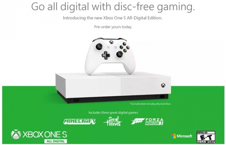 Chegou a Xbox One S All-Digital Edition! A consola sem leitor de Blu-ray