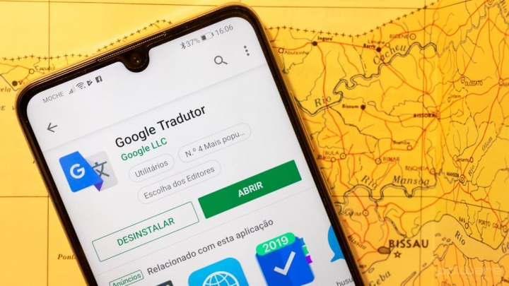 aplicação Google Lens Google Tradutor smartphones Android