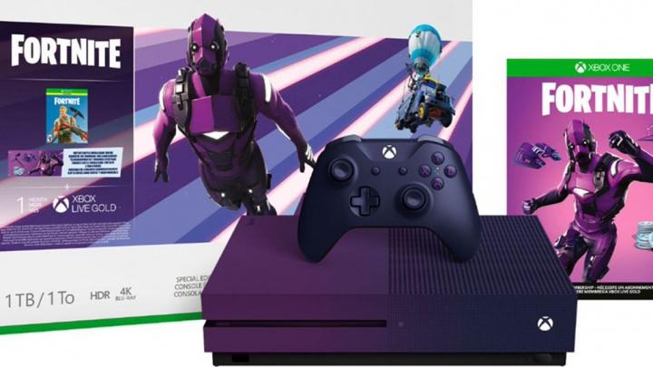 Microsoft Xbox One S Fortnite consola jogos