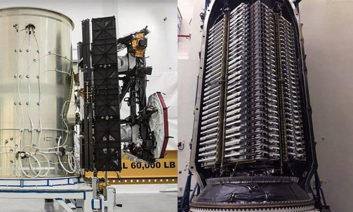 Imagem satélites Starlink da SpaceX prontos, diz como mostra Elon Musk
