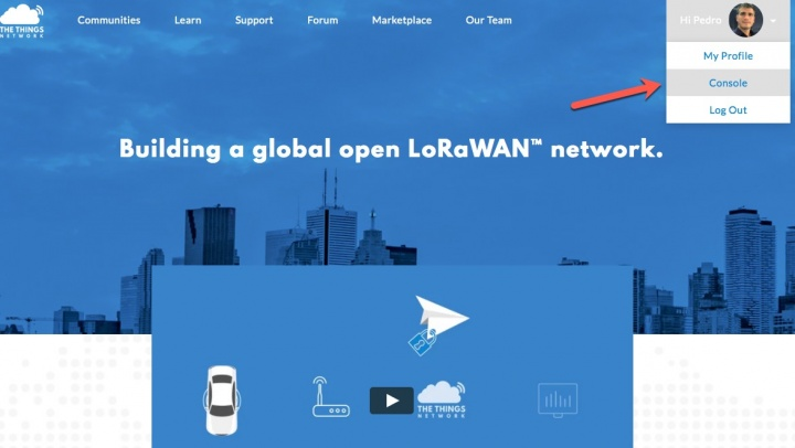 Como registar um gateway Lora na plataforma The Things Network (1)