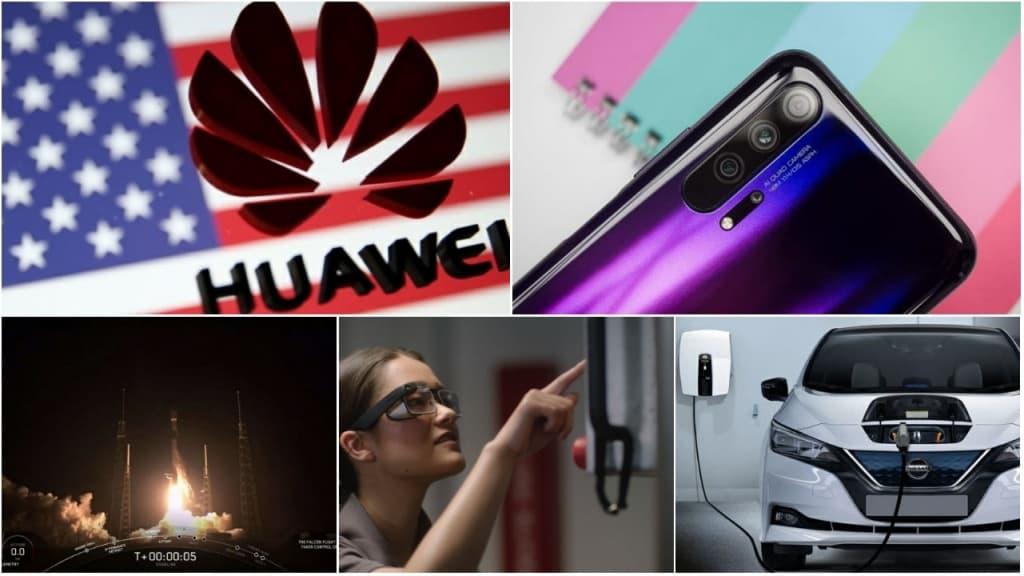 Imagens representativa da proibição da Huawei nos EUA, da nova PS5, de alguns factos do novos OnePlus 7 Pro, da abertura da primeira loja oficial Xiaomi em Portugal e muito mais
