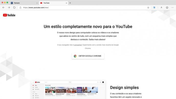Edge YouTube Google Chrome browser