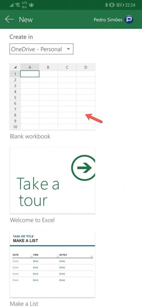 Excel fotografia dados Microsoft smartphone