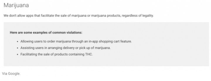 """Além de apps e malware... a loja de apps Android também """"tinha"""" marijuana"""
