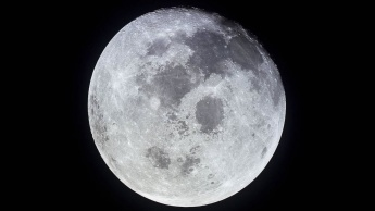 Imagem da Lua que está a emagrecer por causa dos sismos