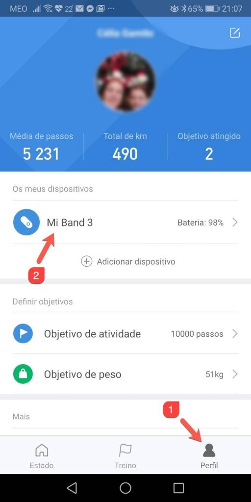 Mi Band smartphone encontrar smartband Xiaomi