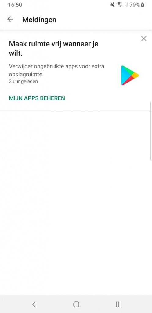 Android Play Store apps espaço armazenamento