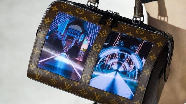 Louis Vuitton moda ecrãs dobráveis Royole