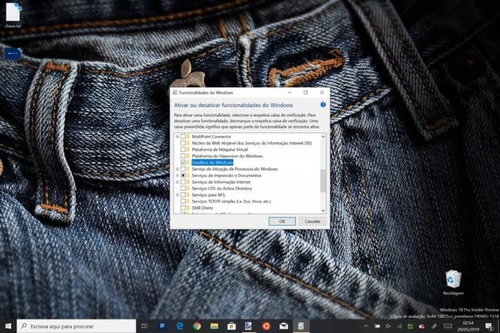 Sandbox Windows 10 Microsoft atualização maio