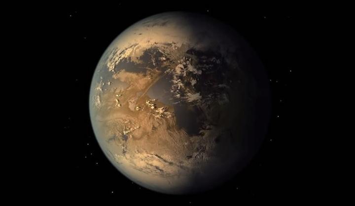 Imagem artística do planeta Terra 2.0
