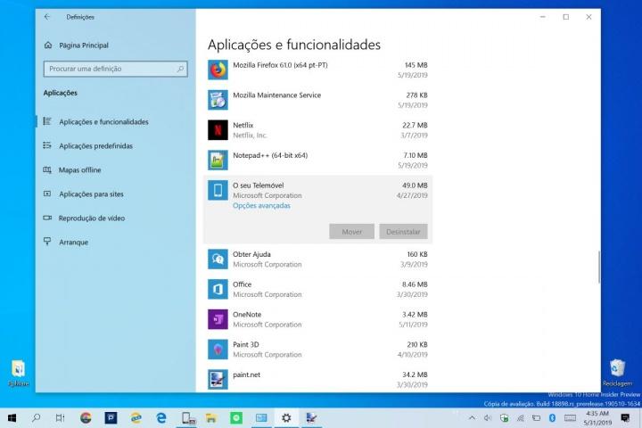 Windows 10 Microsoft apps remover espaço